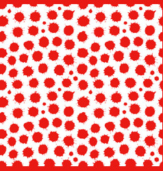 abstract seamless spatter red pattern vector image