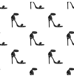 Ankle straps icon in black style isolated on vector
