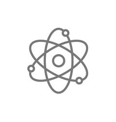 atom molecule line icon vector image