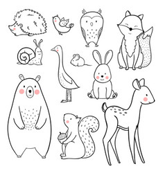 Baby animal set vector