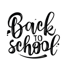 back to school lettering for banner design vector image