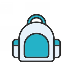 Bag Outline Icon vector image