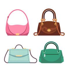 bags ladies women handbags fashion accessories vector image