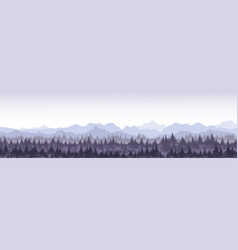 Beautiful panoramic view vector