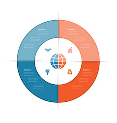 best ring infographics can be used for workflow vector image