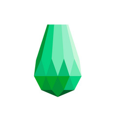 big diamond icon flat style vector image