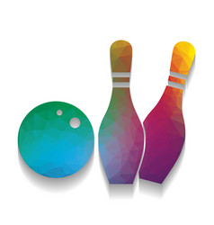 bowling sign colorful icon vector image