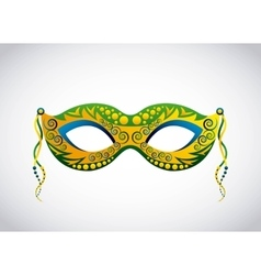 brazil mask design vector image
