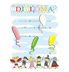 carnival diploma vector image