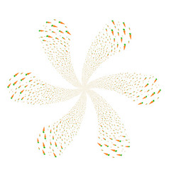 carrot centrifugal flower cluster vector image