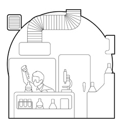 Chemist working in laboratory concept vector