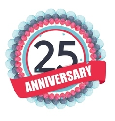 Cute Template 25 Years Anniversary with Balloons vector image
