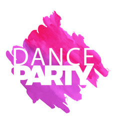 Dance party purple pink watercolor paint backgroun vector