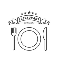 dish and cutlery restaurant menu vector image