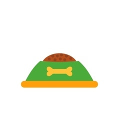 Dog food cap isolated icon vector