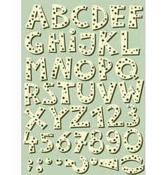 Dotted beige font vector image