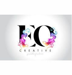 Eo vibrant creative leter logo design with vector