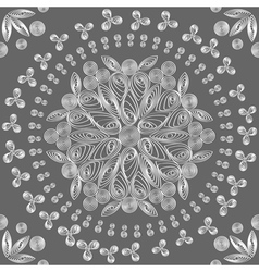 exquisite floral lace vector image