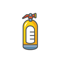 Extinguisher protection safety fill vector