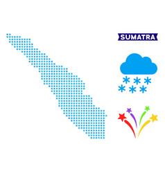 Frozen sumatra island map vector