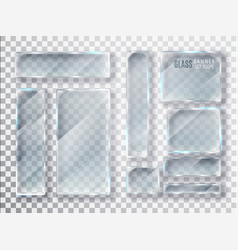 glass transparent plates set glass modern vector image
