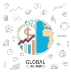 Global Economics Concept vector