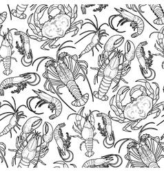 Graphic crustaceans collection vector image