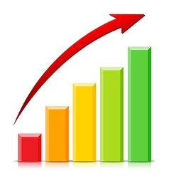 Growing Graph vector image