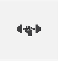 gym base icon simple sign gym vector image