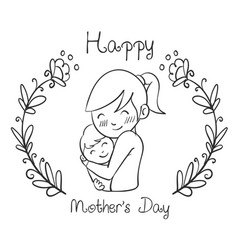 hand draw mother day style design vector image