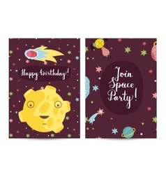 Happy Birthday Cartoon Greeting Card vector