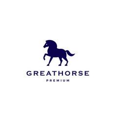 Horse logo icon vector