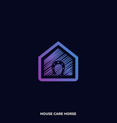 hose care horse template vector image