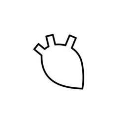 Human heart icon on white background vector