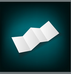 identity design blank white folding paper flayer vector image