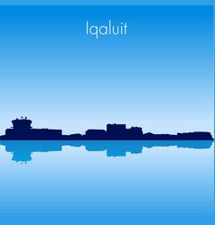 Iqaluit skyline vector