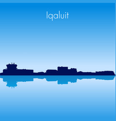 iqaluit skyline vector image