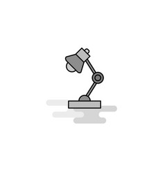 lamp web icon flat line filled gray icon vector image