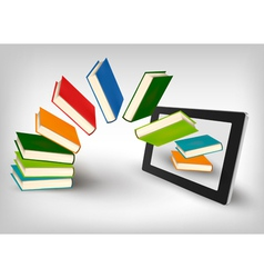 library in e book vector image