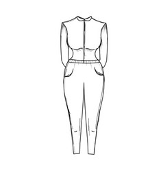 Line nice woman wear style design vector