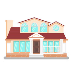 luxury dwelling place flat vector image