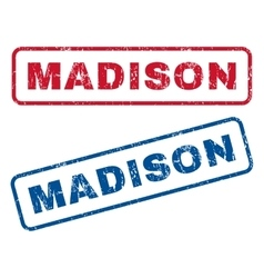 Madison rubber stamps vector