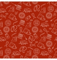 Medical HIV Aids seamless pattern with detailed vector