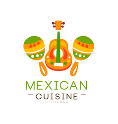 mexican cuisine logo design authentic traditional vector image