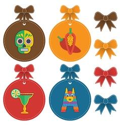 Mexican labels vector