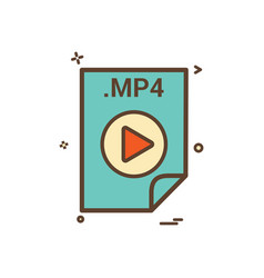 Mp4 application download file files format icon vector