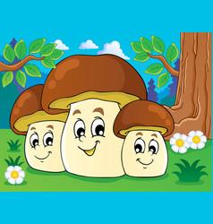 Mushroom theme image 8 vector