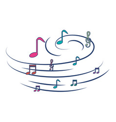 Music notes pattern background vector