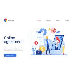 online agreement website vector image