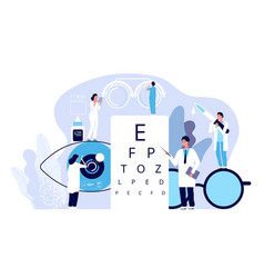 ophthalmology concept ophthalmologist checks vector image